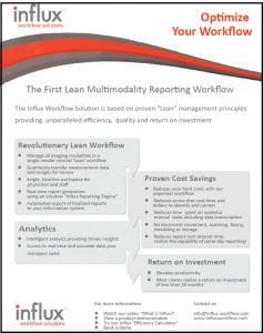 Influx_First_Lean_MultiModality_Reporting_Workflow
